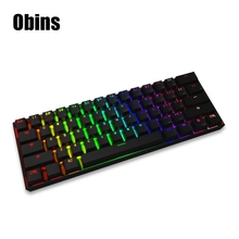 Original Obins Anne Pro Wired Mechanical Keyboard with RGB Backlit Wireless Gaming Keyboard 61 Keys Bluetooth 4.0 pk CK104 CK108