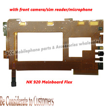 For Nokia Lumia 920 main big SIM card flex Cable with SIM Card reader mainboard front small camera microphone Connector Original