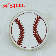10PC 54*54mm football basketball design Iron On Sewing Embroidered Patches For Cloth Badge Garment Motif Appliques DIY Accessory