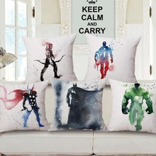 coussin pillow Cartoon Superheroes Avenger Batman cushion decorative pillows cojines decorativos almofadas para sofa pillows