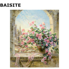 BAISITE Frameless DIY Oil Painting Pictures By Numbers On Canvas Wall Pictures Wall Art For Living Room Home Decoration H503(China)