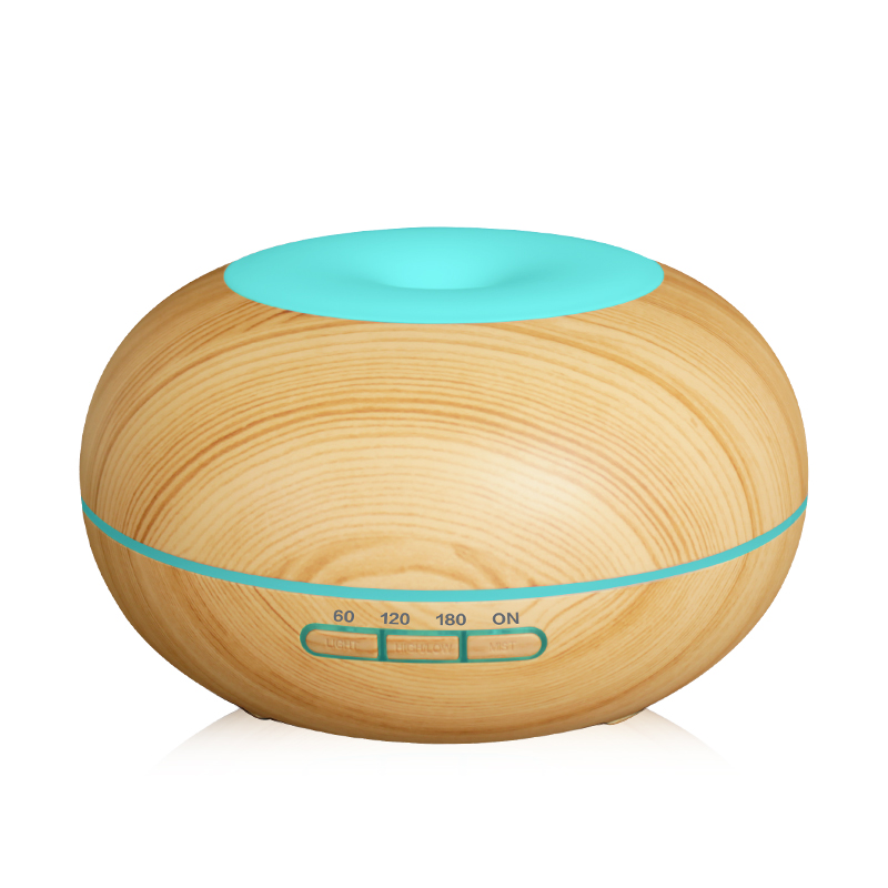 300ml Air Humidifier Aroma Essential Oil Diffuser Wood Grain Ultrasonic Cool Mist Humidifier for Office Home Bedroom Living Room<br>