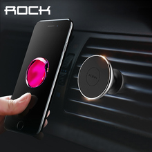 Rock Universal Magnetic Car Phone Holder Air Vent Mount Magnet Cell Phone Stand For iPhone 6 7 5s HTC Samsung Xiaomi(China)