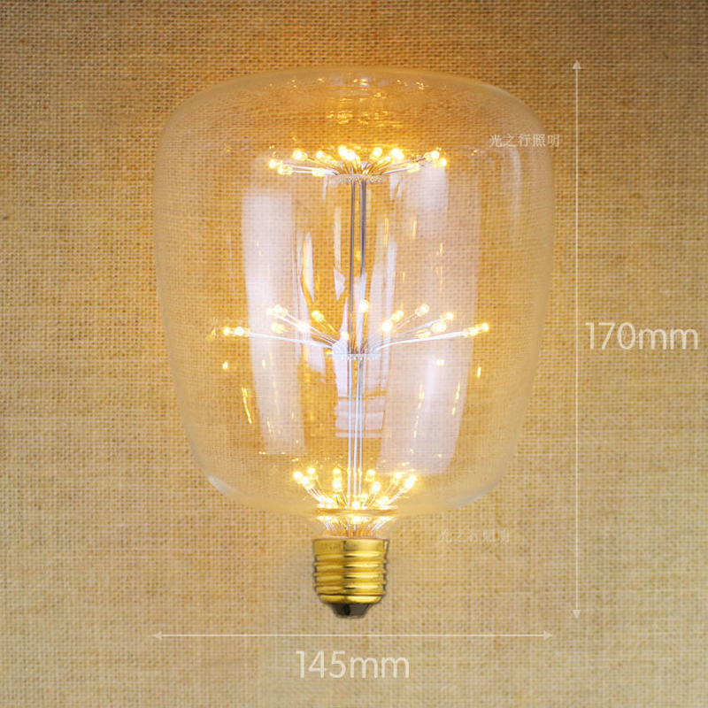 2017 Edison LED bulb 220V 2W E27 bolt port decorative sky star creative energy saving bar cafes hotel light source free shipping<br><br>Aliexpress