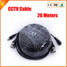 20m BNC Video DC Power CCTV Cable for Security Camera Cable Surveillance Accessories
