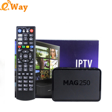 Mag250 linux system OTT arabic TV Box network wifi IPTV set top box STB mag250 256M DLAN M3U mag 250 Same as Mag254 Media Player