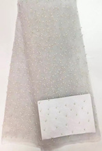 JYL137(4)Best selling french net lace fabric in white african net lace high quality african tulle lace fabric with beads