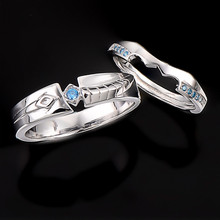 LoL Heroes Master Couples Lovers Rings Tryndamere Ashe 925 Silver Rings Game Jewelry(China)