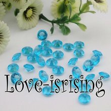 Free Shipping--1000pcs 4 Carat (10mm) Aqua Blue Diamond Confetti Wedding Favor Supplies Table Scatter--New Arrivals