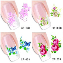 30 Styles! Fashion Nails Art Manicure Decals Florals Design Water Transfer Stickers For Nails Tips Beauty#BXF1031~BXF1060(China)