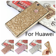 Buy Luxury Glitter Bling Soft Silicone Case Huawei P8 P8Lite 2015 P9 G9 Lite Plating Frame Full Cover Capa for $1.03 in AliExpress store