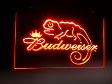b11 Budweiser Frank Lizard Beer Bar pub club 3d signs LED Neon Light Sign home decor crafts(China)