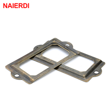 5PCS NAIERDI 69*32mm Handle Antique Metal Label Pull Frame File Name Card Holder For Furniture Cabinet Drawer Box Case Hardware