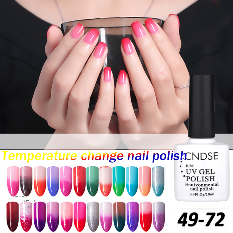 Gel Nail Polish Temperature Change Nail Color UV Gel Polish 10ml/pcs Nail Gel for Nail soak off gel polish(China (Mainland))