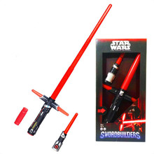 NEW Hot ! 105cm Star Wars lightsaber 7 The Force Awakens Kylo Ren LED scalable Cosplay Darth Vader action figure lightsaber(China)