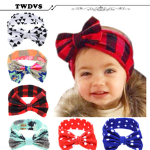 TWDVS Best Deal Lovely Hair bands Headband Fashion Bunny Ear Girl Headwear Bow Elastic Knot Headbands accessories KT044(China)