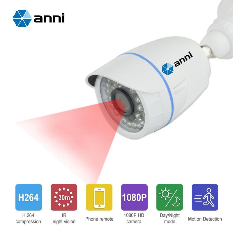 Annivision CCTV Full 1080HD IR Bullet Camera 3.6MM Len 30M IR-CUT Day/Night Version Waterproof Onvif Protocol Security Camera<br>
