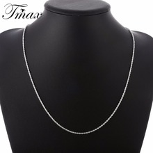 Necklace 2M Men 2016 Hot Marketing Flash Twisted Rope Chains Silver Plated Trendy Simple Geometric Jewelry Accessories HFNE0776