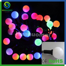 WS2801 Chip DC5V G40 digital dream color led ball string holiday decoration waterproof  lamp