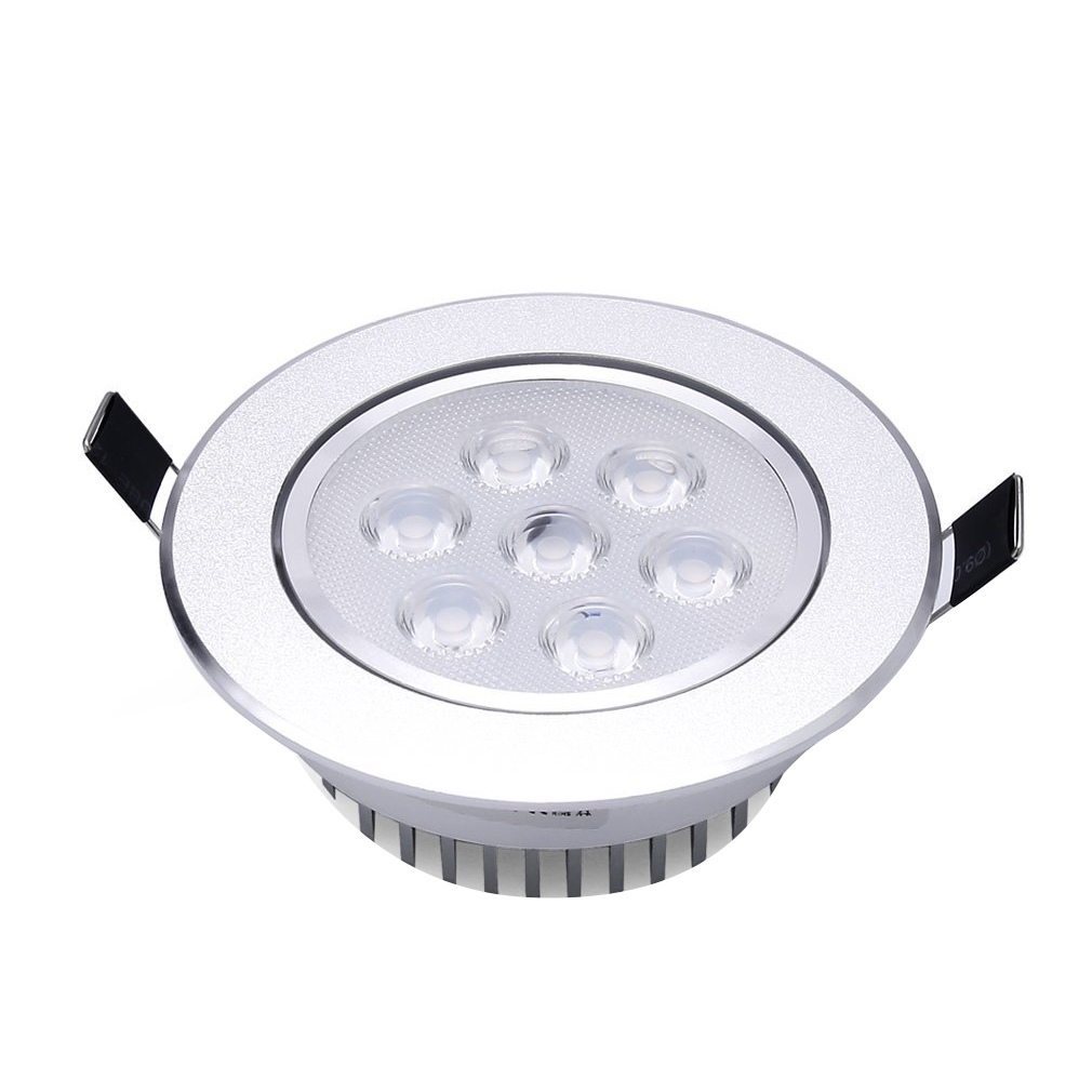 Warm White LED Recessed Light Energy Saving Downlight Indoor Ceiling Lamp (Pack of 4, 7W, 3000K)<br>