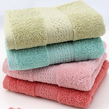 34*74cm Middle Size Cotton Bathroom Towels Solid Color Decorative Elegant Embroidered Bathroom Hand Towels L3