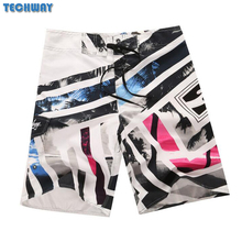 2017 New Plus Size Men's Beach Shorts Mens Bermuda Surf Boardshorts For Swimwear Men Swim Surfing Shorts Board Quick Dry Silver(China)