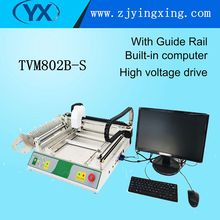 TVM802B-S With Guide rail Universal JUKI Nozzles SMT LED Surface Mounting SMD Placement Pick and Place Machine(China)