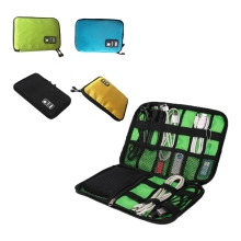 Nylon Hard Disk Bag USB Cable Organizer Case SD Card USB Flash Drives External Storage Small Digital Accessories(China)