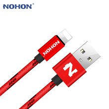 NOHON 8 Pin USB Cable Fast Charger Cable For Apple iPhone 8 7 6 Plus 5 5S 5C iPad iPod iOS 9 10 USB Charging Data Sync Cables(China)