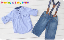 3Piece Clothing Set Boy Cloths set 3 pieces set for 2-7 years old T shirt + Pants Good Quality(China)