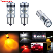 2pcs/lot Auto Car 6000K 1156 BA15S P21W 7506 CREE Chips 100W Car LED Backup Reverse Tail Light White/Amber/Red Bulb Lamp Canbus(China)
