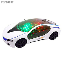 Electric Car Toy for Kids with Stunning 3D Lights and Sounds, Bump And Go Action, Goes around and changes directions on contact(China)