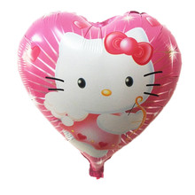 5pcs/18inch high quality hello kitty balloon hello kitty birthday KT party supplies hello kitty party favors foil balloon(China)