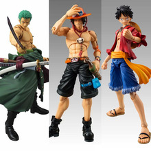 Anime One Piece Zoro Figure SHF PVC 18CM One Piece Action Figures S.H.Figuarts Anime Toys Roronoa Zoro Model Toys luffy ace(China)