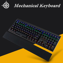 Free shipping Backlit Gaming Genuine Mechanical Keyboard USB wired keyboard plug shaft 108 key mechanical keyboard light