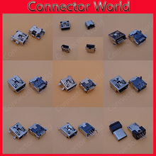 90 pcs/lot 9 Models Mini USB connector B type 5 Pin 10pin 8PIN SMT/DIP 5pin 10 pin 8 pin USB socket female Jack 2.0 V3 PORT