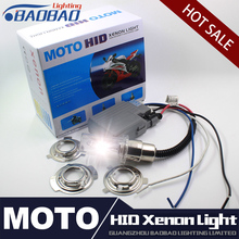 BAOBAO Motorcycle HID Headlight kit, 6000K Moto Xenon light styling universal ballast lamp for BMW Honda YAMAHA kawasaki Suzuki(China)