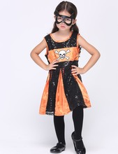 MOONIGHT Girls Halloween batman Batgirl fancy dress Kids disguise carnival party Outfit superhero cosplay costume