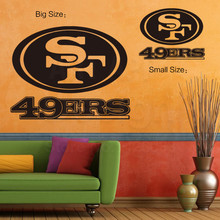 2016 art new design home decoration colorful Rugby Mark Vinyl wall sticker Cheap American sports Cheap house decor decals