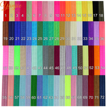 "3000pcs/lot 72colors DHL Free Shipping 5/8"" FOE Shimmery Headband Girls And Kids Solid Elastic Headbands Satin Hair accessories"