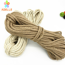 Buy 2 colors twisted shibari bondage jute twine rope 4/5/6mm adult sex toys rope strong DIY gardening free shipping 25m