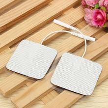 20pcs/lot Electrode Pads for Tens EMS Unit with 2mm Connector for Slimming Massage Digital Therapy Machine Massager 5x5cm