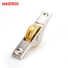 10PCS NAIERDI Sliding Door Roller Cabinet Copper Caster Wheel Pulley For Wardrobe Window Furniture Hardware