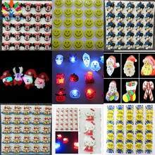 NEW SALE Cartoon LED Light Mini Brooch Pin Flashing Santa Claus Badge Brooches Kid Gift Birthday Toys Party Halloween Decoration