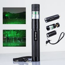 Green Laser Pointer Portable Laser 303 5mW  Pointer Pen Powerful light laser Adjustable Focus 4000MAH 18650 Battery + charger
