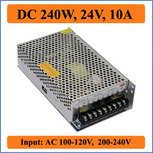 240W 24V 10A Switching Power Supply AC 100-240V to Triple DC output 24V for LED Strip light display Device & CNC Stepper Driver