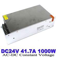 Single Output 24v DC Power Supply Switching 41.7a 1000w Led Driver Transformer 110V 220V AC to DC24 SMPS For CCTV LED Strip Lamp(China)