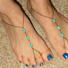 Summer Style Beach Foot Jewelry Toe Anklet Handmade Beaded Toe Anklet For Women JL0008(China)