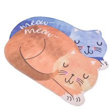 New Home Style Kawaii Floor Mats Cute Cat Animal Print Bathroom Kitchen Carpets Children For Living Room Anti-Slip Tapete Rugs(China)
