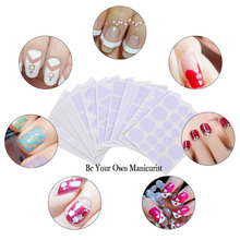 12 Pcs French Manicure Nail Sticker Tips Guides Manicure Nail Art Decals Form Nail Stencil Geometry Circle DIY Decoration(China)